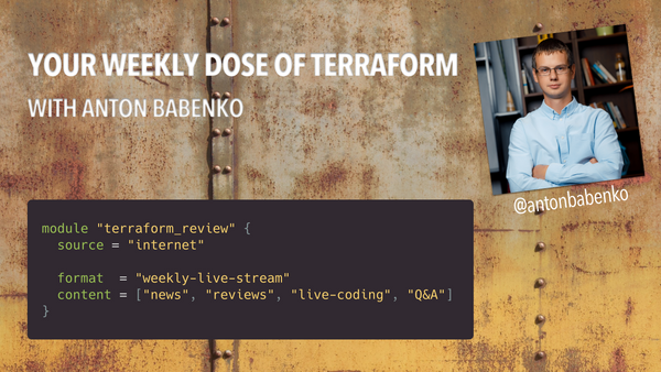 Your Weekly Dose of Terraform — Live Streams